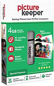 Picture Keeper 4GB Portable Flash Smart USB Photo Backup and Storage Device for PC and MAC Computers