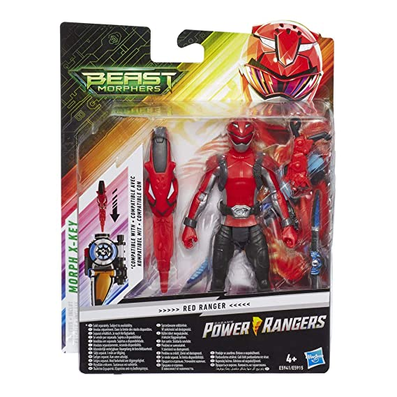 Power Rangers- Figura de acción Beast Morphers Ranger Plata, Multicolor (Hasbro E6031ES0)