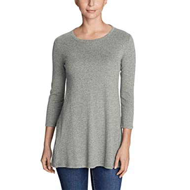 ee48d6ae741ac Eddie Bauer Women s Favorite 3 4-Sleeve Tunic T-Shirt at Amazon Women s  Clothing store
