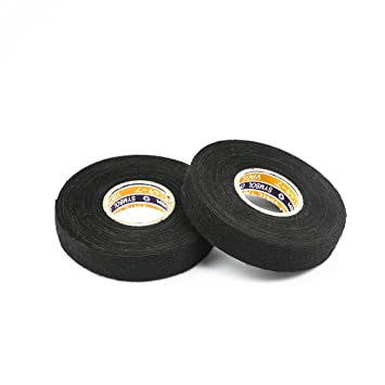 717Ueg dwTL._SY355_ amazon com black fuzzy fleece interior wire loom harness tape car black non-adhesive vinyl wiring harness tape at bayanpartner.co