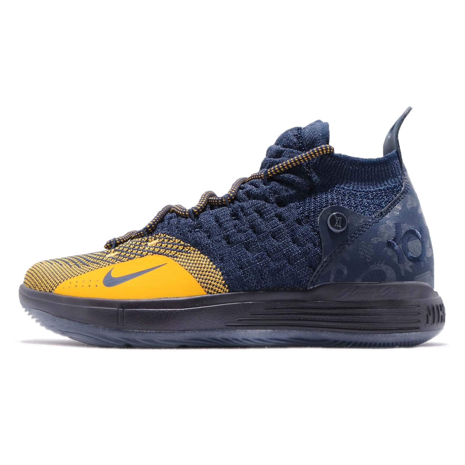 Nike Kid's KD 11 GS, College Navy/University Gold, Youth Size 6