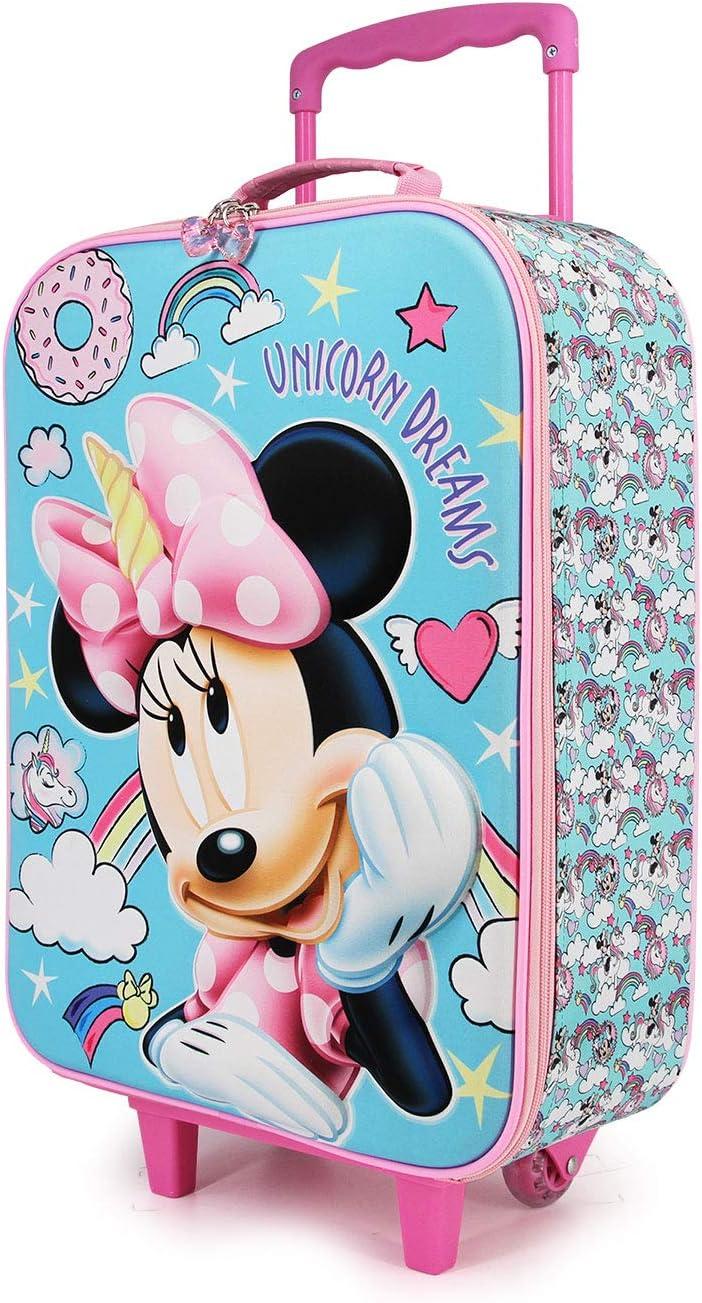Karactermania Minnie Mouse Unicornio - Maleta Trolley Soft 3D, Multicolor, Un tamaño