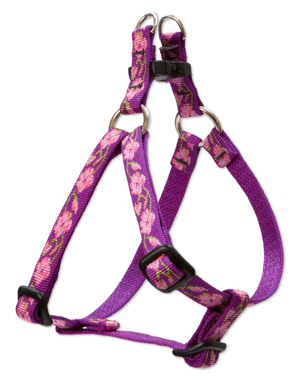 LupinePet Originals 1/2'' Rose Garden 10-13'' Step In Harness for Extra Small Dogs