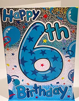 Happy 6th Birthday Card For A Boy