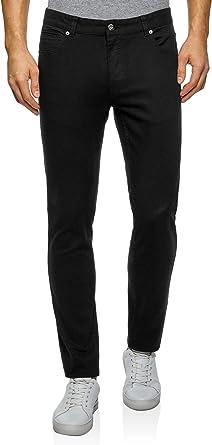 oodji Ultra Hombre Pantalones de Algod/ón Slim Fit