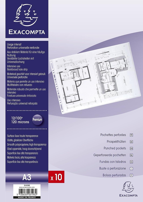 A3 Exacompta 3193E/ /10/H/üllen mit Lochsegmente Tasche