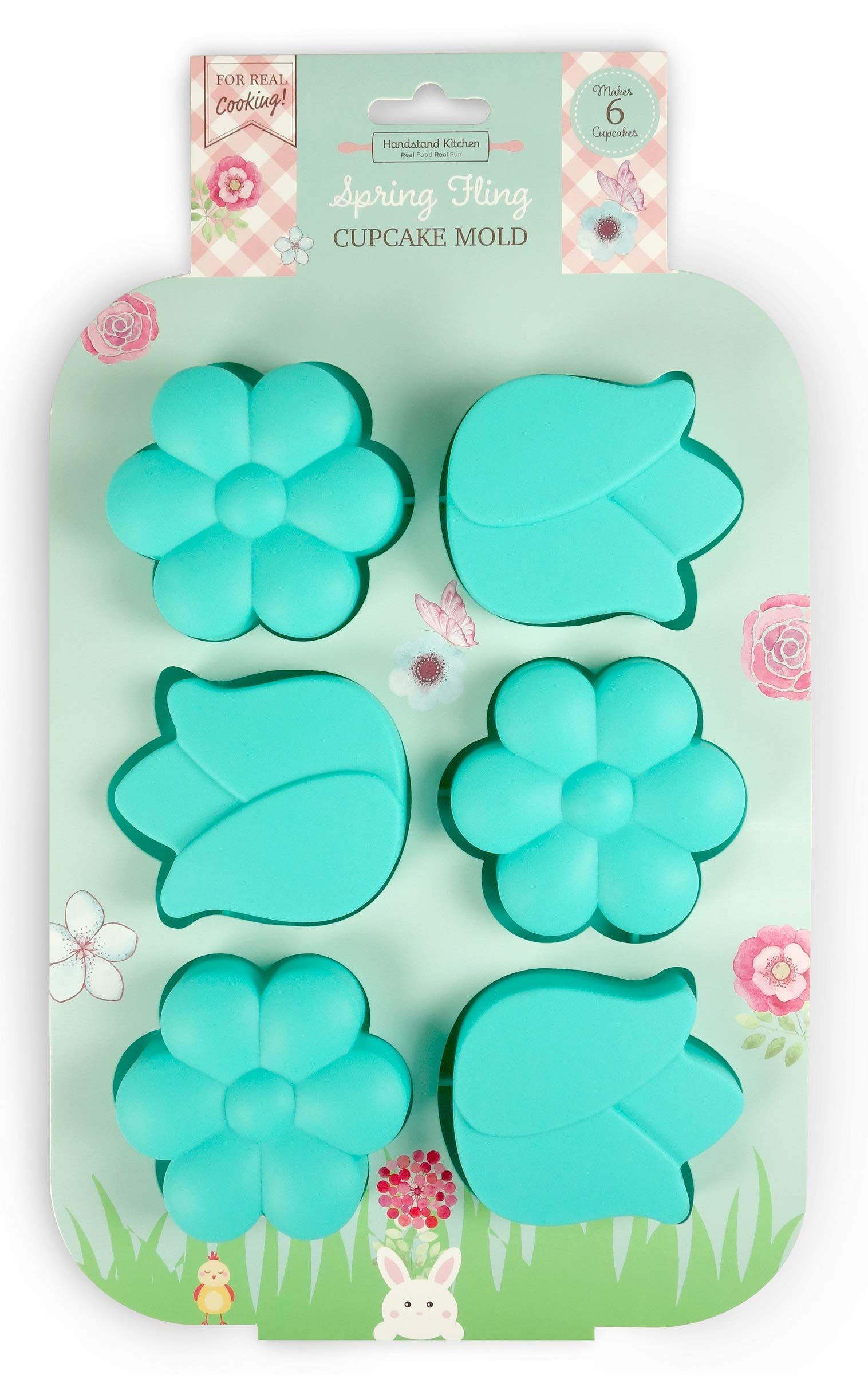 Handstand Kitchen Spring Fling Silicone Flower Shaped Cupcake Mold