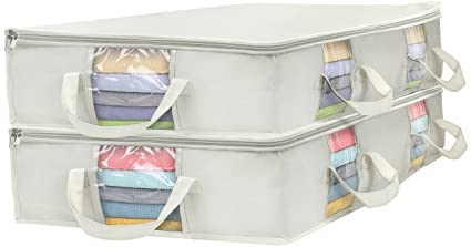 cd92bacacd75 Amazon.com: Sorbus Foldable Storage Bag Organizers, Large Clear ...
