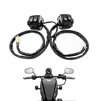 amazon com parts camp replacement 1 pair handlebar control switches rh amazon com Motorcycle Wiring Harness Restorations Make a Motorcycle Wiring Harness