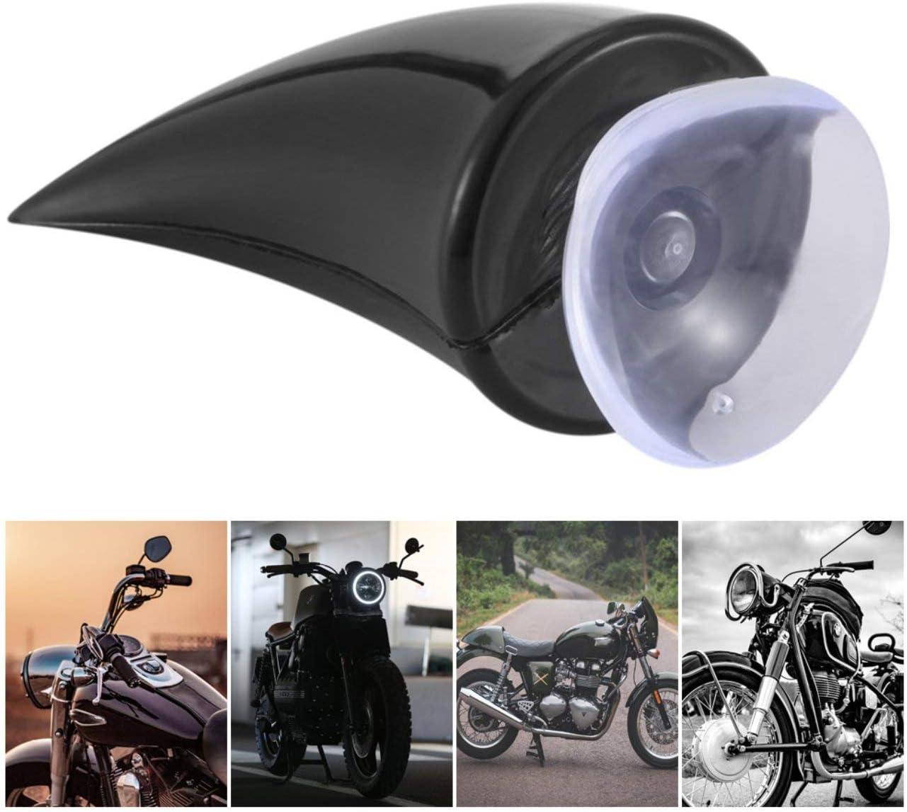 Nero Casco da Moto Corno Diavolo Corno da Demone con Ventosa Motocross Decorazione Protettiva Integrale Accessori Auto ITjasnyfall