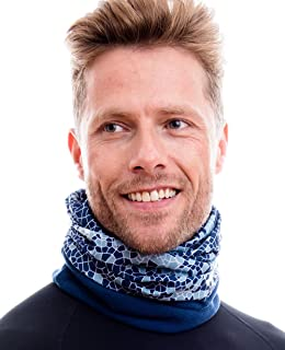 Hilltop 2-er Set Polar Multifunktionstuch//Halstuch Herren//Schlauchschal Damen//Neckwarmer//Ski Gesichtsmaske mit Fleece