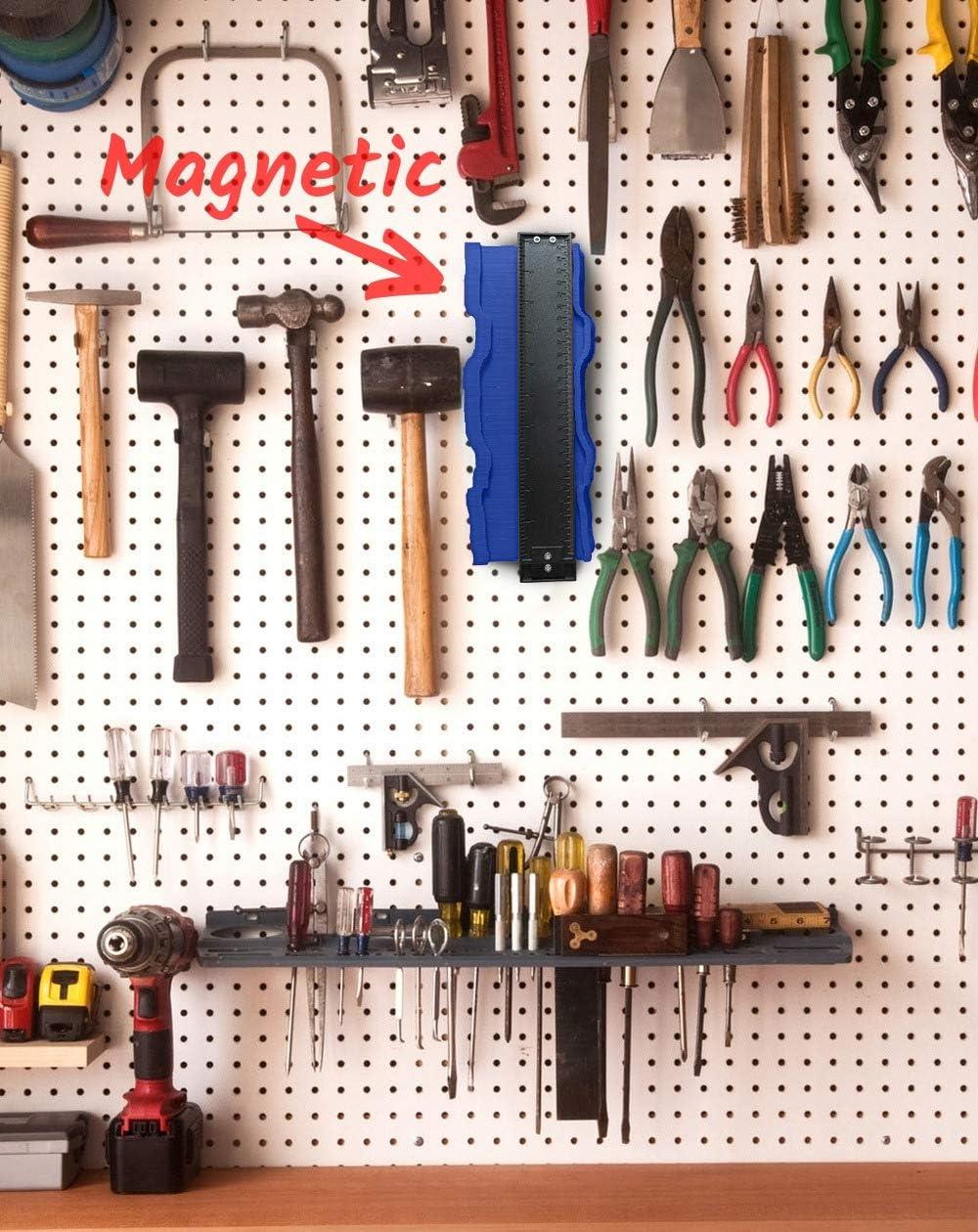 Profile Shape Ez Duplicator Tool 10 Inch Irregular Welding Carpenters Master Outline Contour Gauge Momenturn Easy Copy Ruler Instant Template Ezgauge 2019 Upgraded Light Blue