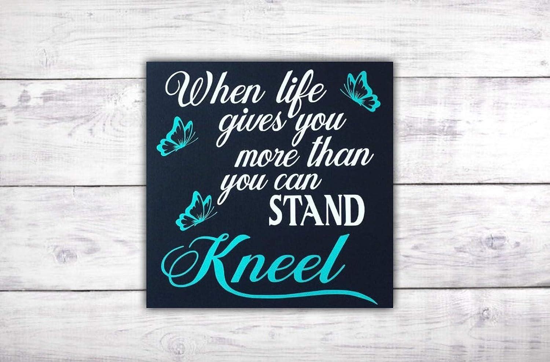 com kneel and pray christian wall art mindfulness gift