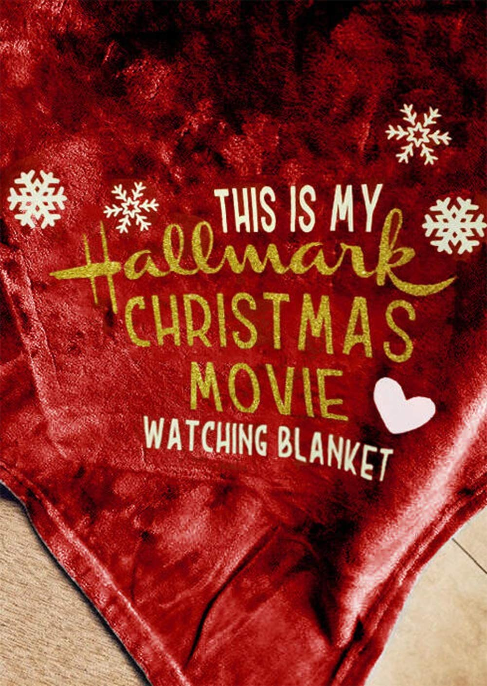 Dark Gray, 51x63 Inches Gowone This is My Hallmark Christmas Movie Watching Blanket Super Soft Flannel Fleece Snowflake Heart Pattern Decor Throw for Sofa Couch Bed 47x59 Inches
