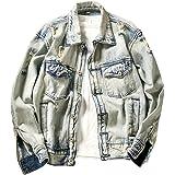 FOMANSH デニムジャケット メンズ Gジャン ウォッシュ加工 長袖 大きいサイズ 快適 ジージャン コート アウター 春秋 冬
