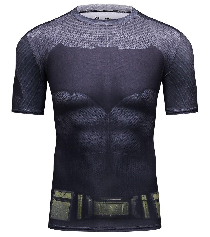 Cody Lundin® Uomo compressione T-shirt stampa, Camicia a maniche corte Sport Fitness esercizio in esecuzione T-shirt da uomo
