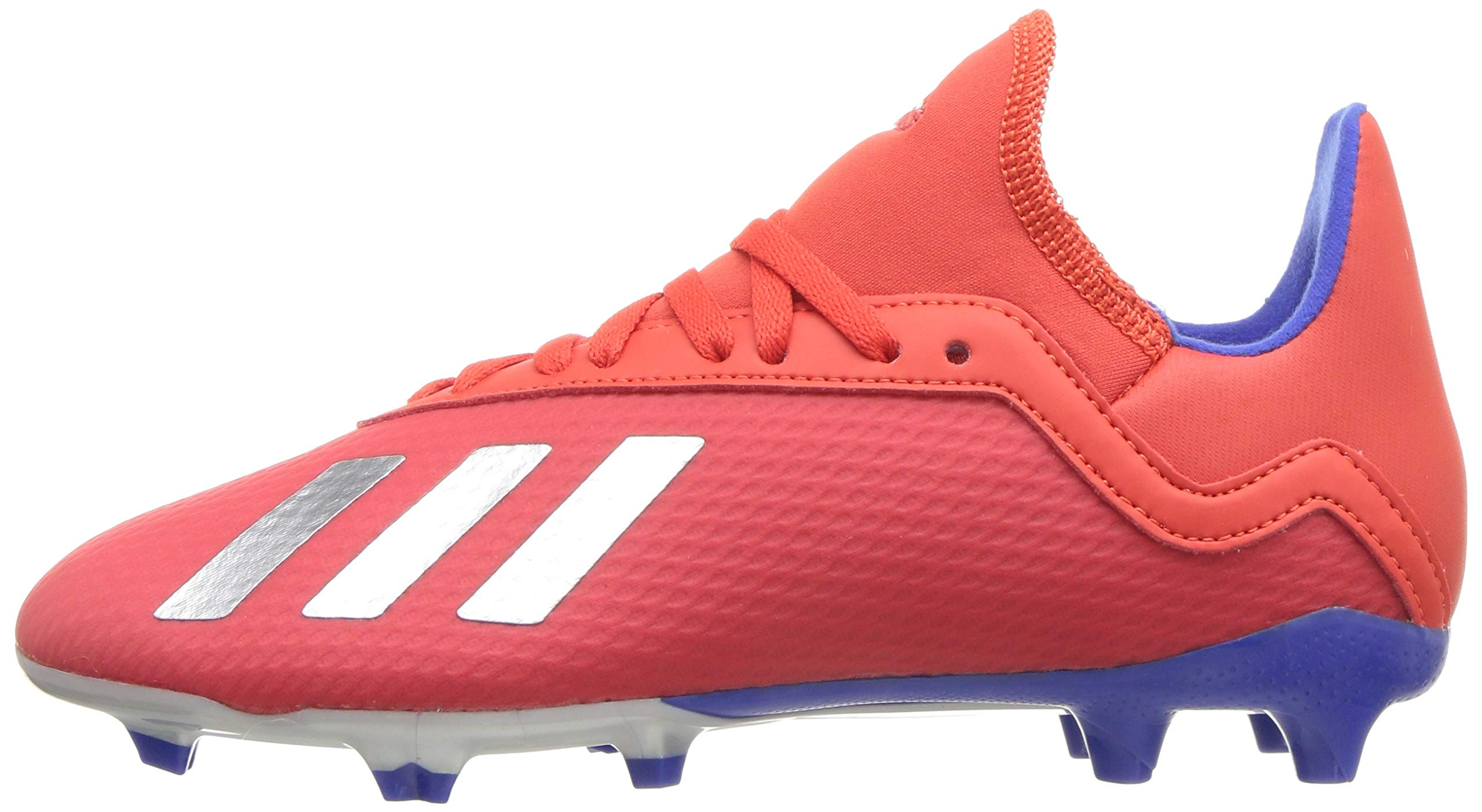 adidas X 18.3 Firm Ground, Active red/Silver Metallic/Bold Blue 13K M US Little Kid by adidas (Image #5)