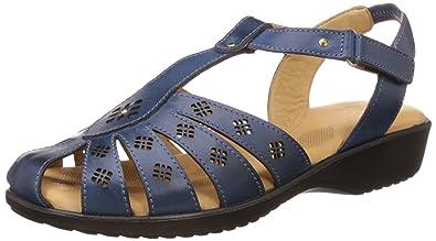 10469350b93a Scholl Women s Paris Closed Sandal Blue Fashion Sandals - 3 UK India (36 EU