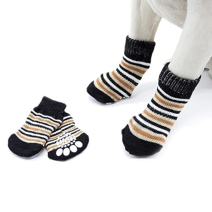 Amazon.com: Pet Heroic calcetines de punto antideslizantes ...