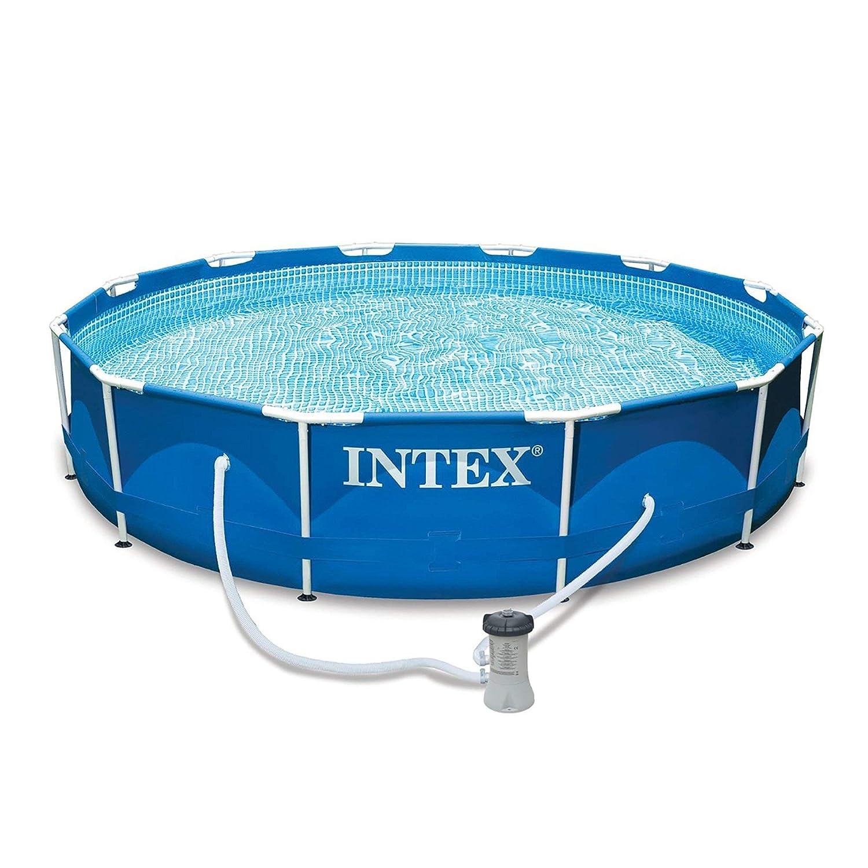 INTEX - Piscina de marco de metal 56996FR [versión italiana]: Amazon.es: Deportes y aire libre