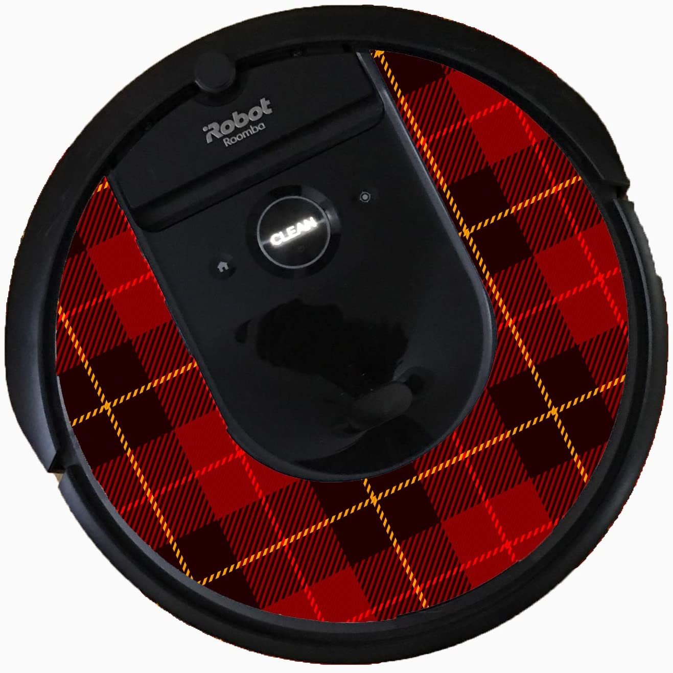 Bling for Roomba i7 Vacuums (Red Plaid)