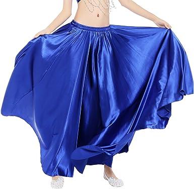 Dance Fairy Danza del Vientre satén Falda Larga Envuelve para ...