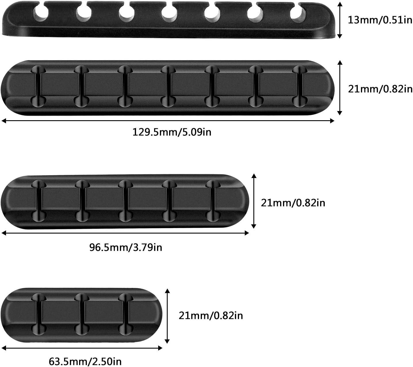 Czemo Clips de C/âbles Lot de 3 Accroche Cable Management Bureau Range Cable Adhesive Organiseur et Gestion de C/âbles de Recharge