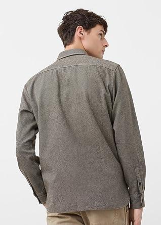 MANGO MAN - Camisa casual - para hombre caqui S: Amazon.es: Ropa y accesorios