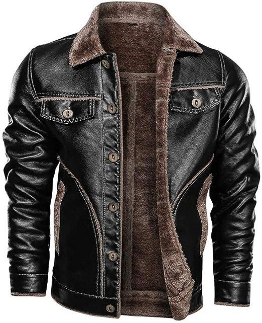 WGG Chaqueta de piel de cuero con estilo de traje de un solo ...