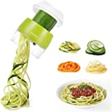 Handheld Spiralizer Vegetable Slicer, Adoric 3 in 1 Heavy Duty Veggie Spiral Cutter - Zoodle Pasta Spaghetti Maker for…