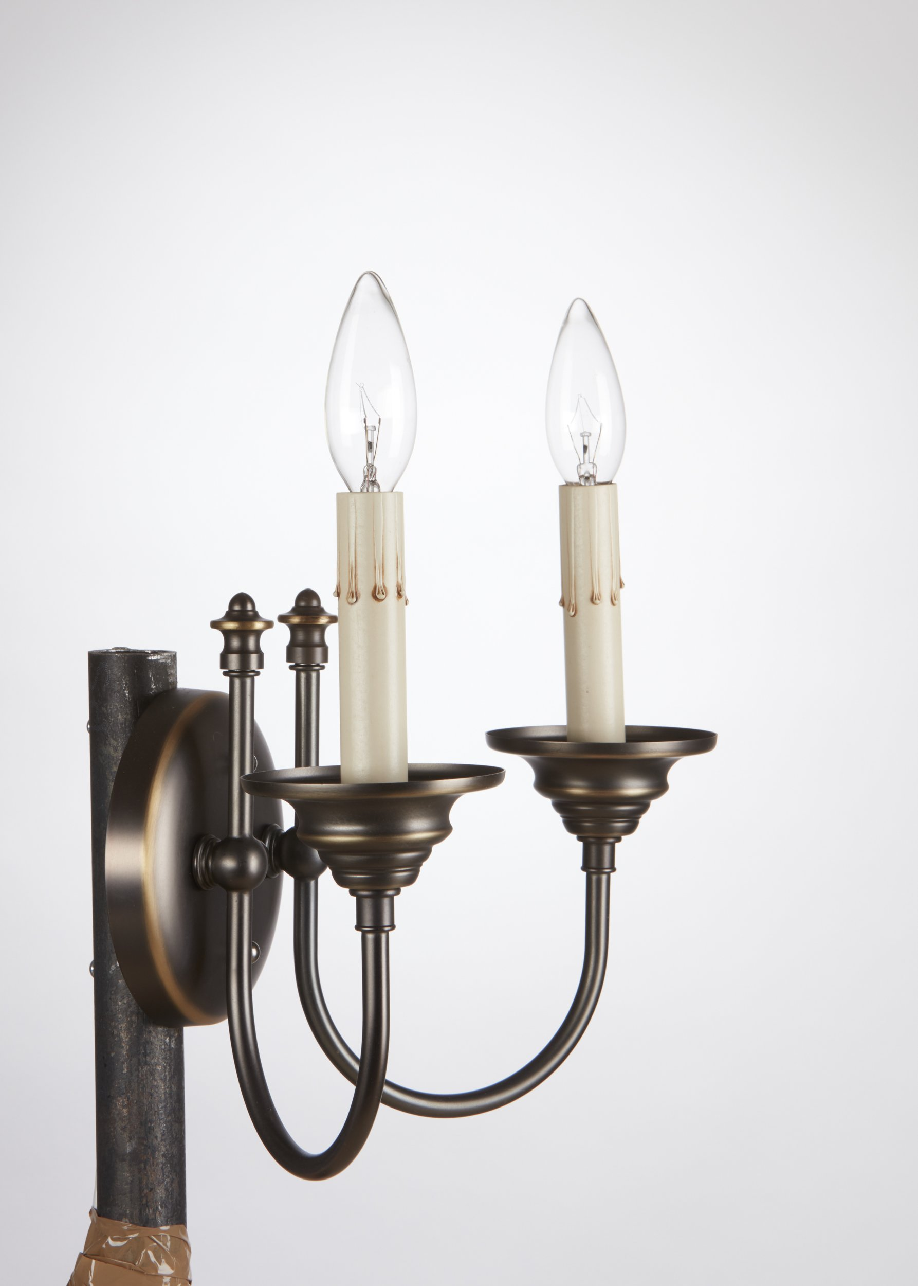 Upgradelights Ivory Fibre Drip 6 Inch Candle Socket Covers (Set of 6) by Upgradelights