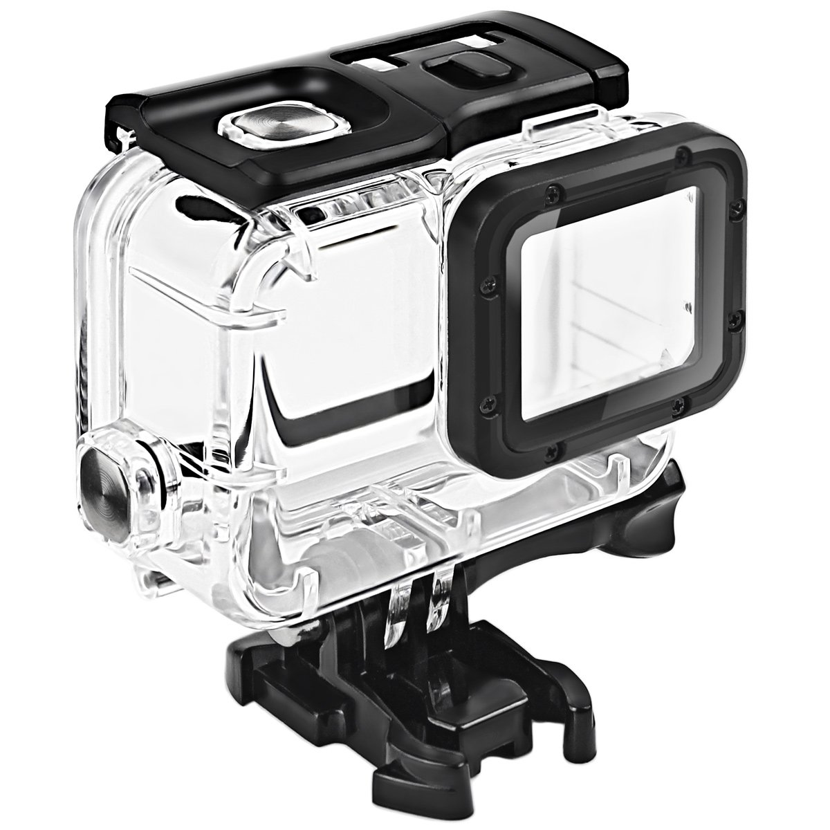 FitStill Waterproof Housing for GoPro HERO 2018/7/6/5 Black, Protective 45m Underwater Dive Case Shell with Bracket Accessories for Go Pro Hero7 Hero6 ...