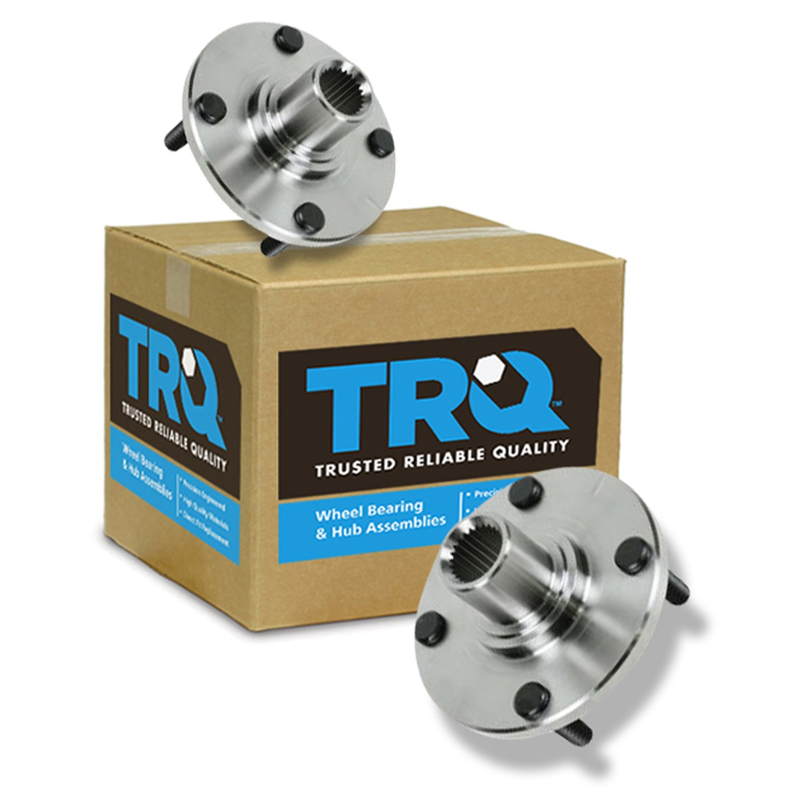 TRQ Front Wheel Hub & Bearing Pair Kit Set of 2 for 00-11 Ford Focus by TRQ