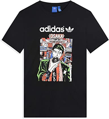 Pío Escabullirse televisor  adidas Originals Mens Mens Artist City Life Osaka T-Shirt in Black - XL:  adidas Originals: Amazon.co.uk: Clothing