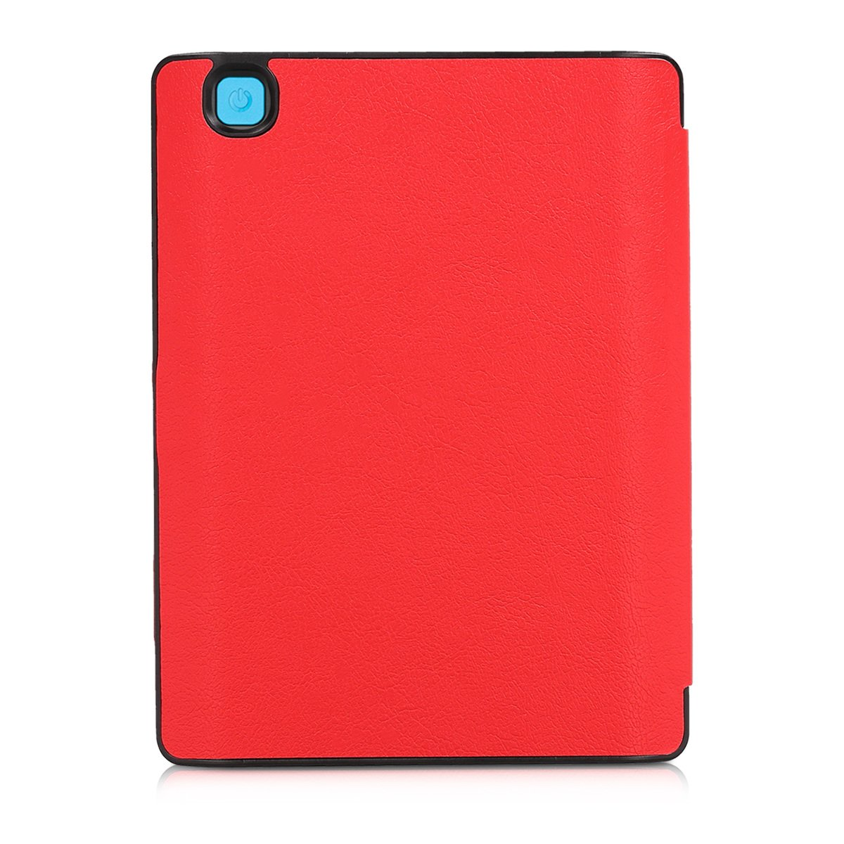 kwmobile Flip cover case for Kobo Aura H2O Edition 2 - imitation leather foldable case in red by kwmobile (Image #4)
