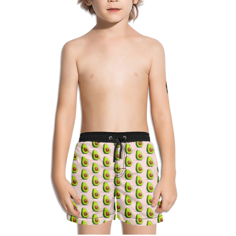 Trum Namii Boys Quick Dry Swim Trunks Avocado Pink Background Shorts