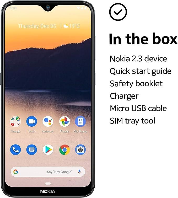 Nokia 2.3 Smartphone Dual Sim 32GB 2GB RAM Charcoal: Amazon.es: Electrónica