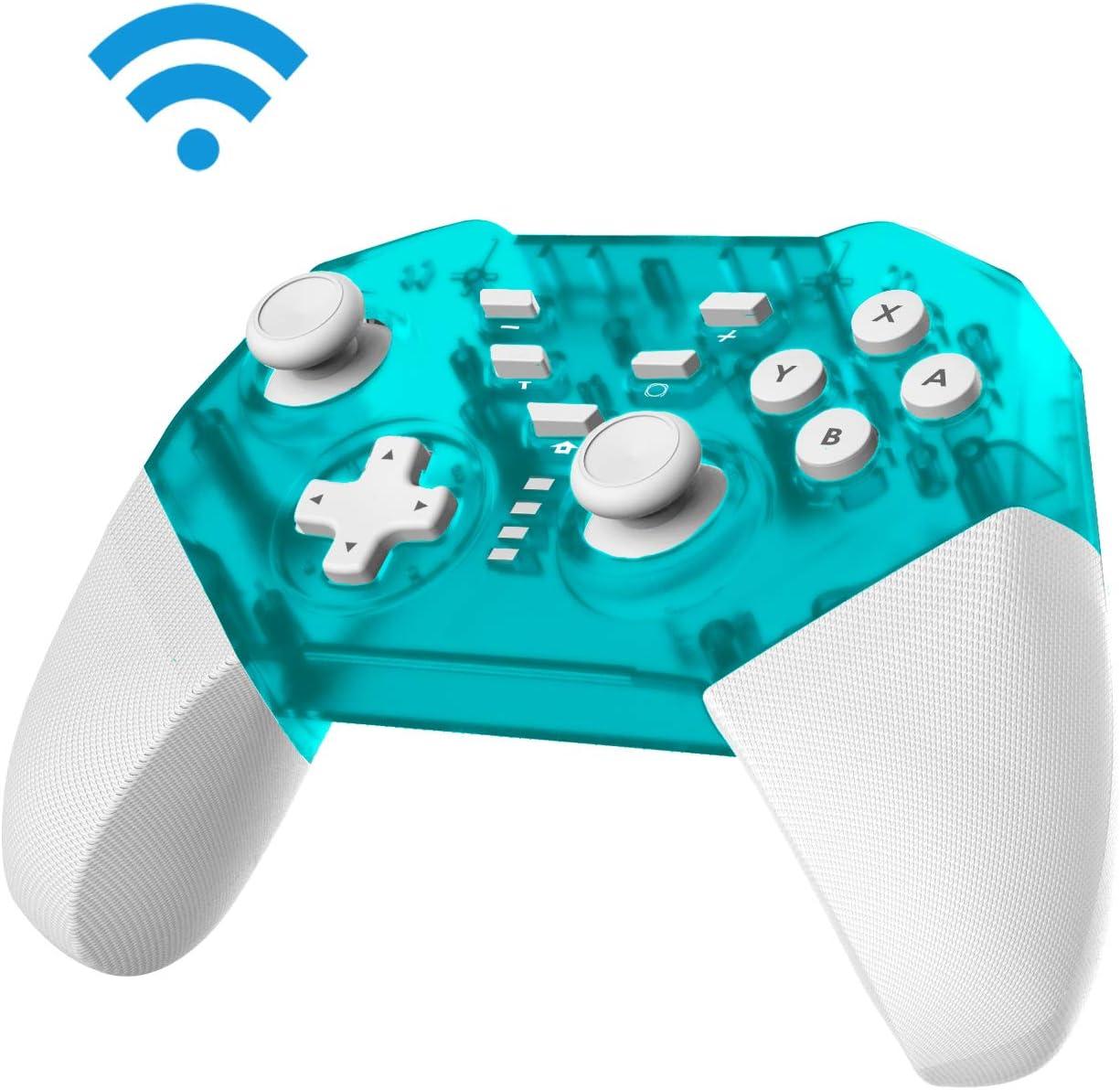 JFUNE Switch Mando Inalámbrico para Nintendo Switch, Controlador Pro Switch Inalámbrico, Función de DualShock y Turbo con Gyro Axis Switch Gamepad - 2019 Nueva versión (Verde)