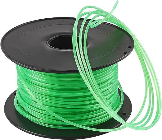 Forever Speed Hilo desbrozadora Nylon Trimmer Strimmer Line Cable String Cable para línea de Hierba 6-Borde Diámetro 3 mm x 100 Metros - Verde: Amazon.es: Jardín