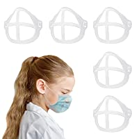 3D Mask Bracket, Silicone Inner Support Protection Bracket for Mouth and Nose Increase Breathing Space Smooth Breathing, for Toddler Children 5-15 Years Old(5PCS)
