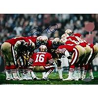 Steiner Sports NFL San Francisco 49ers Joe Montana Huddle Fotografía firmada