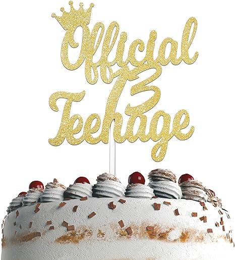 Rose Gold 13th Birthday Cake Topper Happy 13th Birthday Cake ...