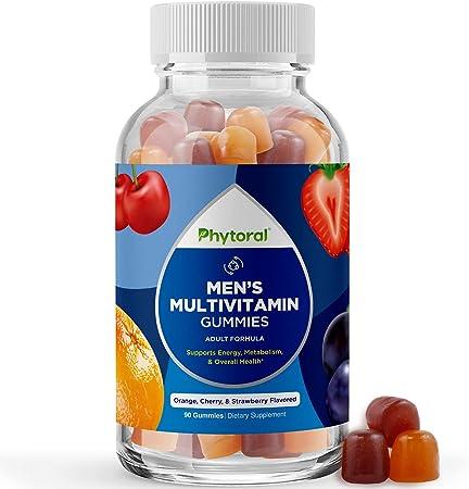 Natural Multivitamin for Men Gummies with Zinc - Men's Multivitamin Gummy with Vitamin D C A Iron & Biotin - Mens Multivitamins Gummies with Vitamin B6 & Vitamin B12 for Full Mens Health Supplement
