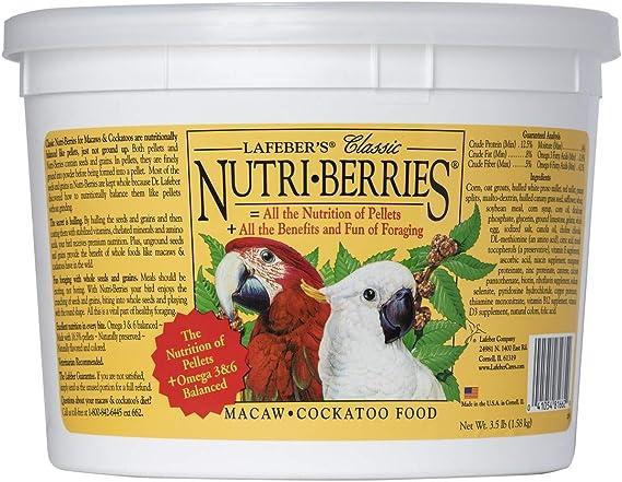 Lafeber's Classic Nutri-Berries for Macaw / Cockatoo 3.5 lb. Tub : Pet Food  : Pet Supplies - Amazon.com