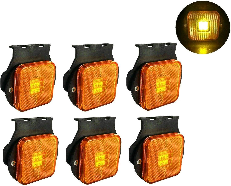 flexzon Orange marker side led trailer truck recovery position ten lights 24v E-mark