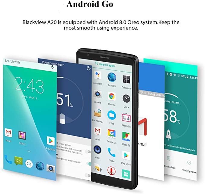 Blackview A20 Smartphone Libres 3G Dual SIM (5.5