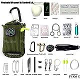 Survival Bracelet Outdoors Paracord Whistle Gear Flint Fire Starter Scraper Kits