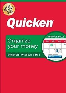 Quicken Starter Personal Finance – Start taking control of your money – 1-Year Subscription (Windows/Mac)