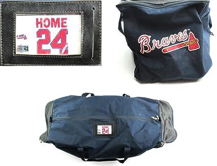 quality design 1be26 e71c0 Evan Gattis Game Used Atlanta Braves Home Equipment Bag ...