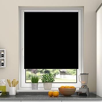 Rollos Schwarz amazon de deswin rollos verdunkelungsrollo 95 x 160 cm schwarz